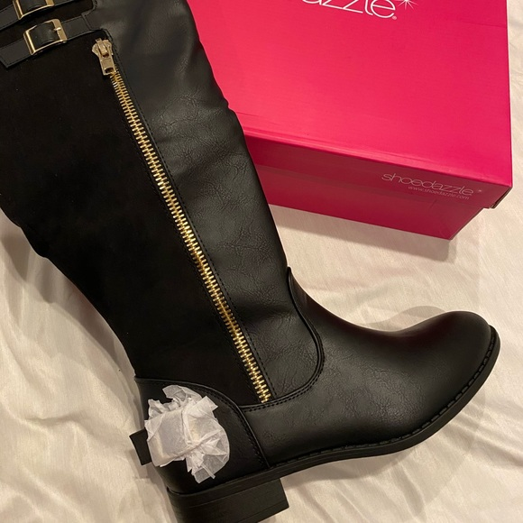 Shoe Dazzle Shoes | Black Wide Calf